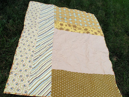 Brown & Green Quilt Back