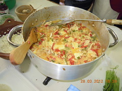 Relleno de pollo para tacos - Comida clase alfarería