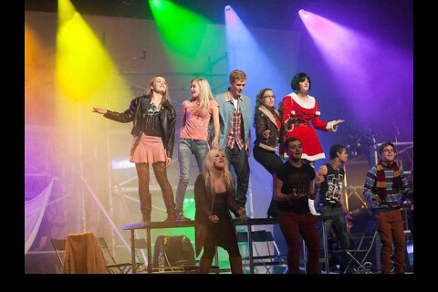 The Principals: George Watson's 2012 production of Rent Back row (l-r): Phoebe Weller, Jeni Philp, Duncan Murray-Uren, Erin Ramsey, Ayesha Quigley.  Bottom row: Laura Cruickshank, Tom Mullins, Nile Lashley-Johnson, Scott Cruickshank.