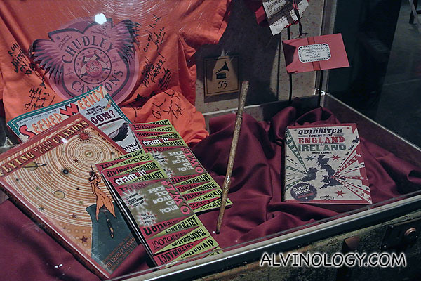 Ron's wand, comic books and other items