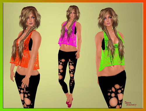 DeColores Inc :So 80's  Lace top. by Dyana Serenity