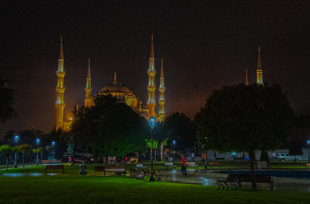 The Blue Mosque after a Thunderstorm