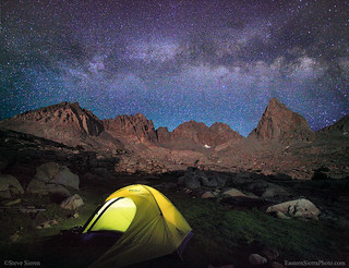 Backpacking Kings Canyon Milky Way