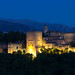 Anochece en la Alhambra