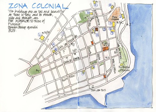 120627 Trip Prep SDQ Zona Colonial Map by borromini bear