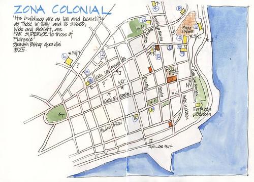 120627 Trip Prep SDQ Zona Colonial Map by borromini bear
