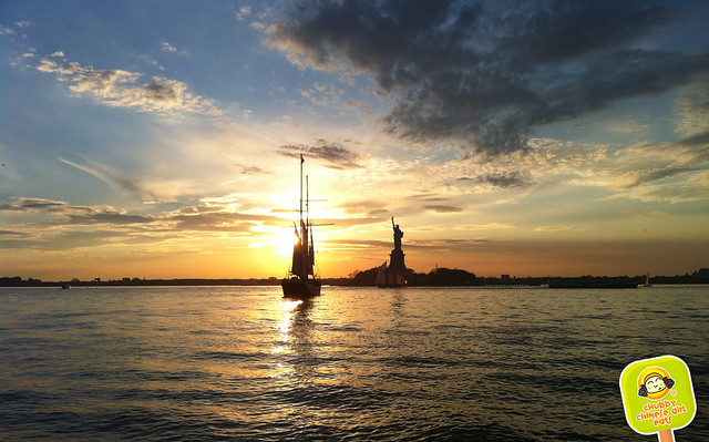 scharffern berger and manhattan by sail sunset