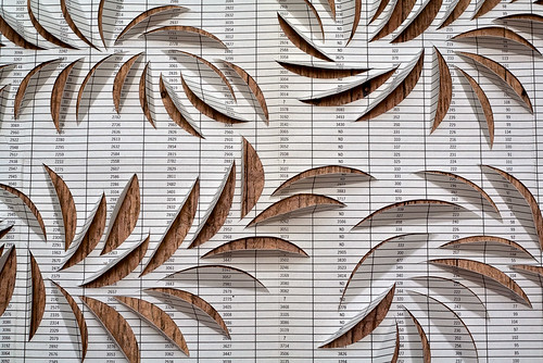 Paper-cut and folding - detail