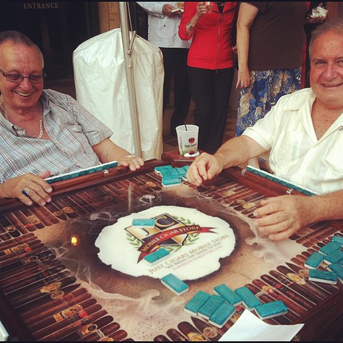 Old Cuban Dudes Playing Dominoes