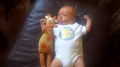 Caleb and Giraffe