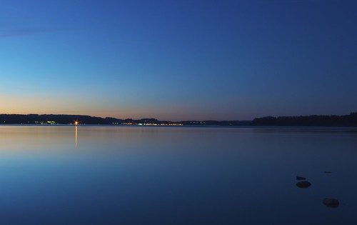 longexposure sky lake water night germany bavaria chiemsee