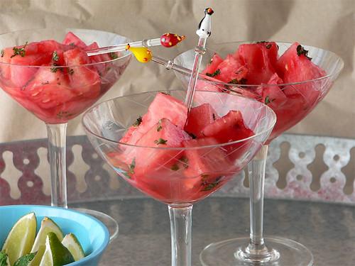 Wassermelone, in Sirup gebadet