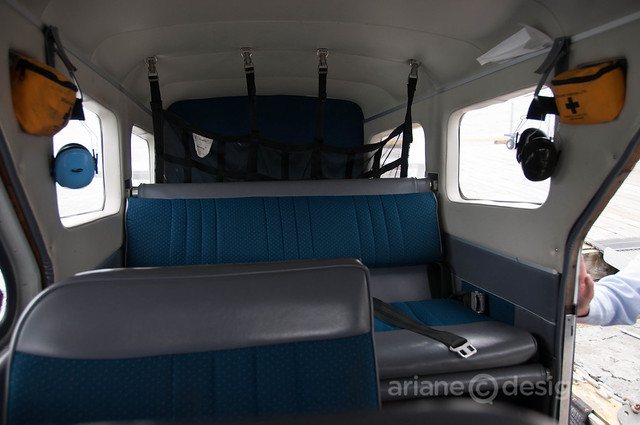 The Beaver's interior (six seat float plane)
