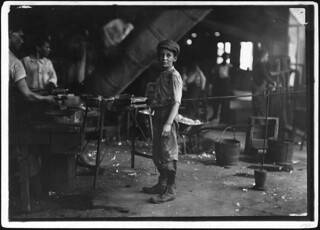 Photograph of Glass Factory Worker Rob Kidd, June 1911