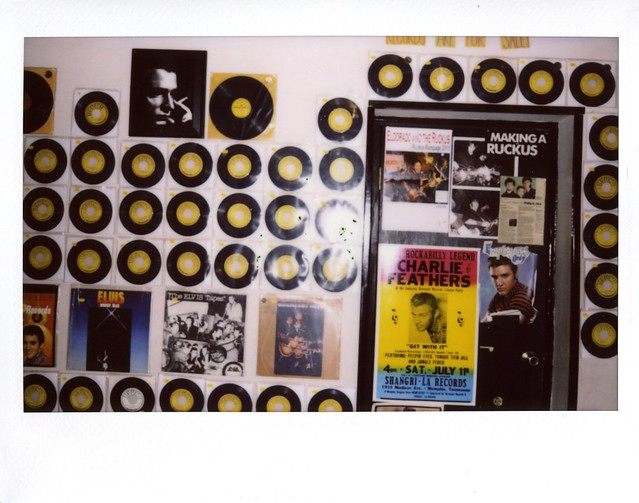 Sun Studio wall of 45s