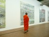 Orange Monk meets Gerhard Richter at Centre Pompidou