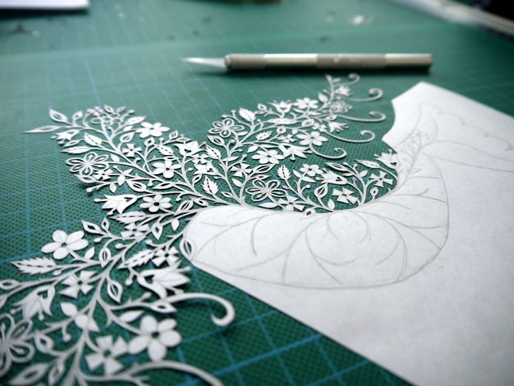 Dove papercut (wip)