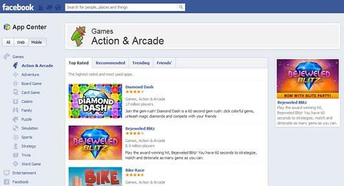 Facebook introduced app center / Anil Labs