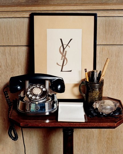 A Paris Apartment And A Paris Graphic: Yves Saint Laurent's Home
