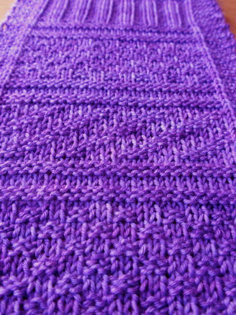 Purple blanket strip 2