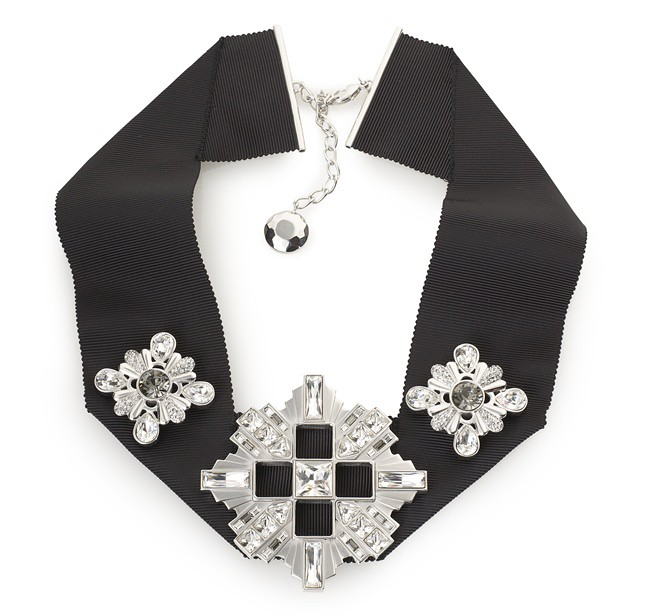1 Atelier Swarovski Diana Vreeland Legacy Collection Corss Necklace Black Diamond