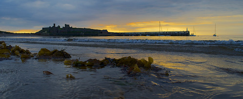 sunset sea irish sun castle beach clouds nikon kelp peel fenella d5100