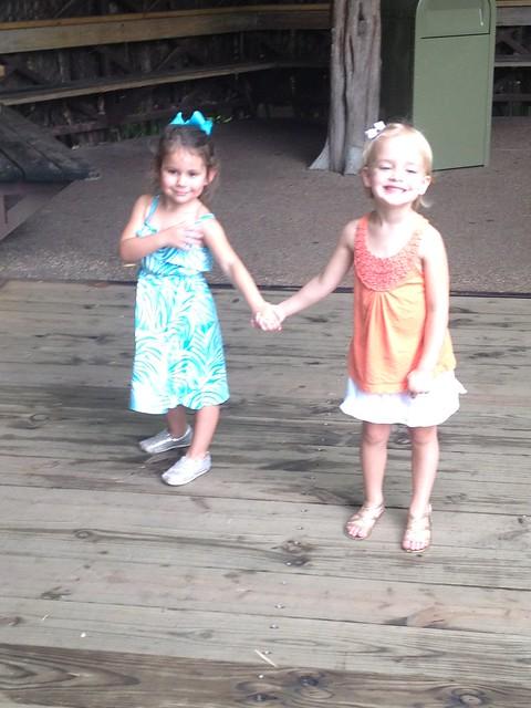 kinley & eden holding hands