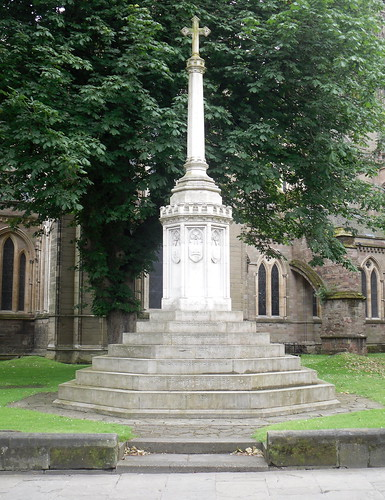 War Memorial outside Worcester Cathedral