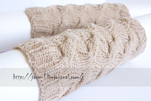 Описание: Вязаные гетры Вязание спицами