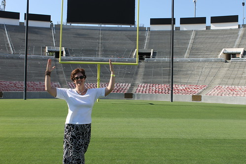 I take the field at the Rose Bowl, 7/20/2012