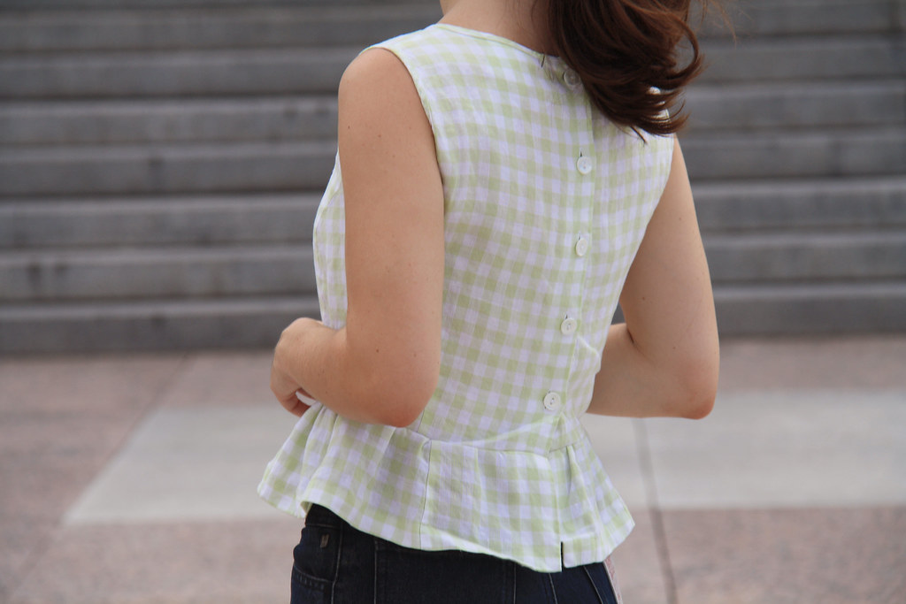 sewing saturday - peplum blouse diy