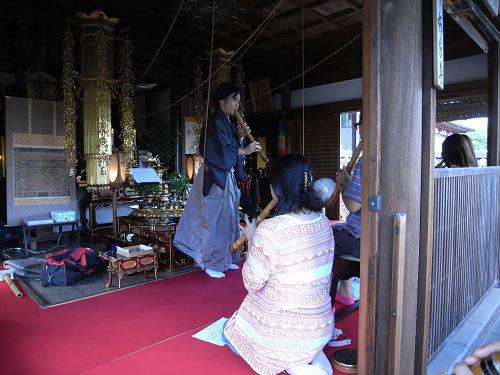 導き観音法要と尺八体験@當麻寺中之坊-09