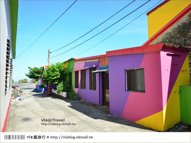 【台東新景點】台東大武彩虹街~全台最夢幻的彩色街弄!13