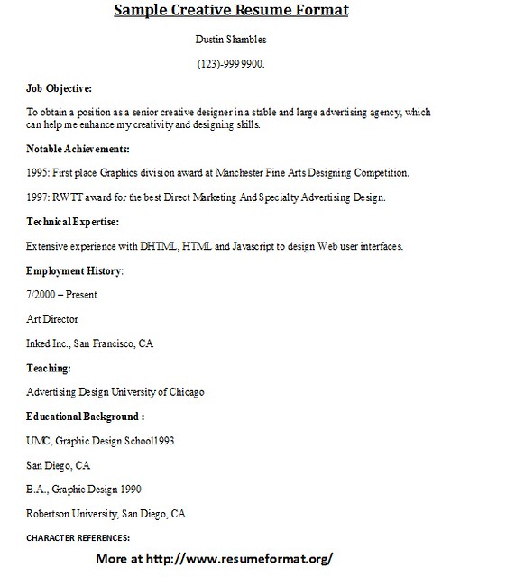 sle creative resume format flickr photo