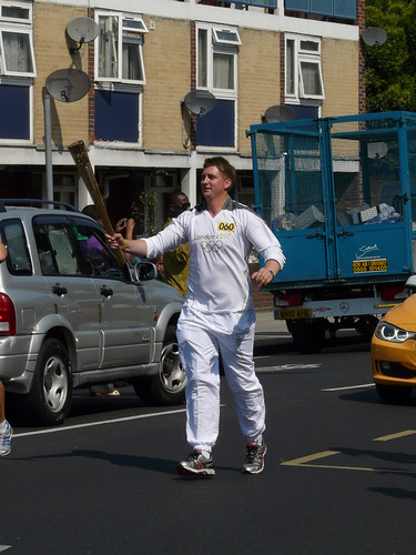 Torch Guy, Olympic Flame Procession