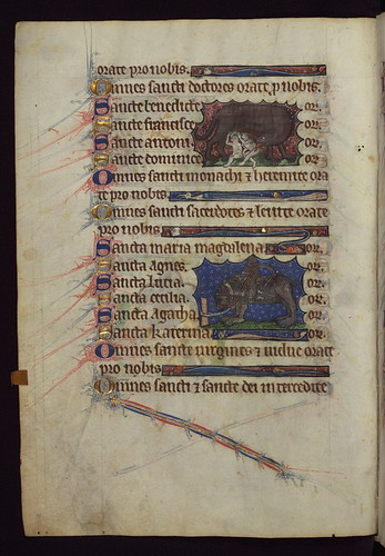 Book of Hours, Romulus and Remus, and Ape riding Bear, Walters Manuscript W.102, fol. 29v by Walters Art Museum Illuminated Manuscripts