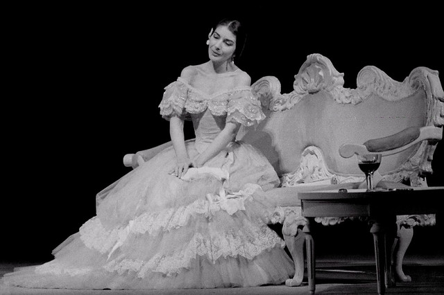 Maria Callas as Violetta in La Traviata © 1958 Roger Wood / Royal Opera House Collections