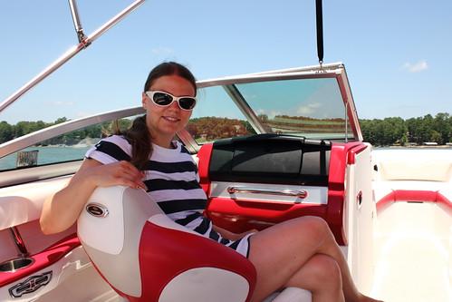 Jenni in the Boat