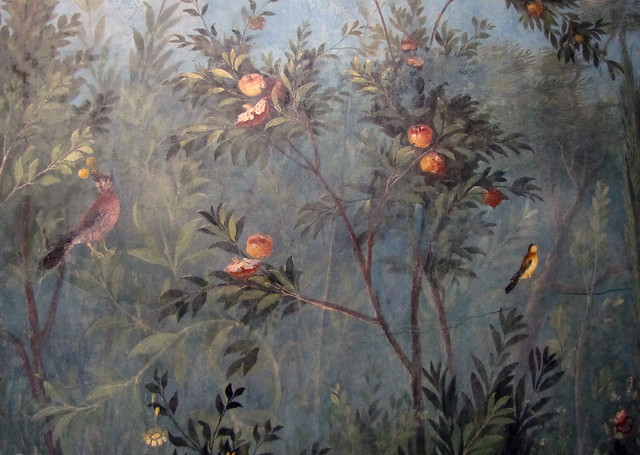 Painted Garden Villa Of Livia Detail With Birds And