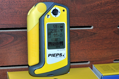 PIEPS VECTOR is the first maintenance-free four antenna avalanche beacon with GPS support and rechargeable batteries; the GPS-map provides precise overview of the searched areas