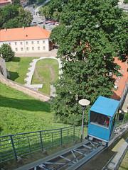 Le funiculaire de la collline de Gediminas (Vilnius)