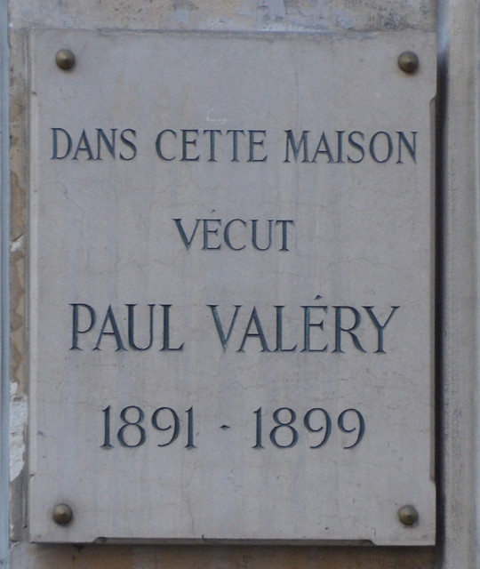 Photo of Paul Valéry marble plaque
