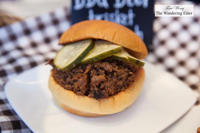BBQ beef brisket slider