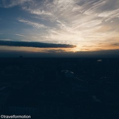 #sunset this #evening #above the #city of #ghent #gent #visitgent #ghentcity #vsco #vscocam #clouds #blue #sky #aerialphotography #flying #wanderlust #travel #travelgram #belgium_unite #belgium #igbelgium