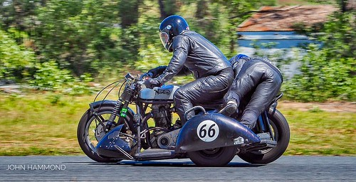 Classic Motorcycle Racing at Lakeside Raceway, Queensland.