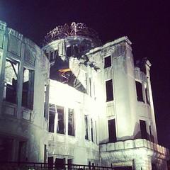 原爆ドームも見てきました。外国人さんが多かった。#Hiroshima