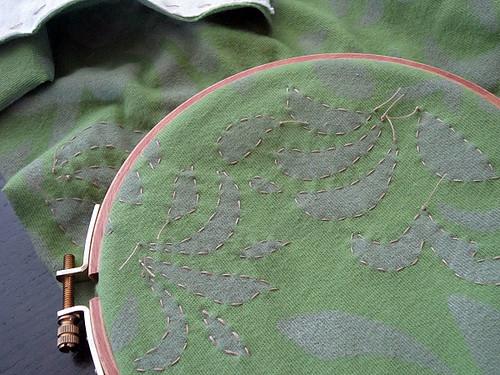 Anna's Garden stitching