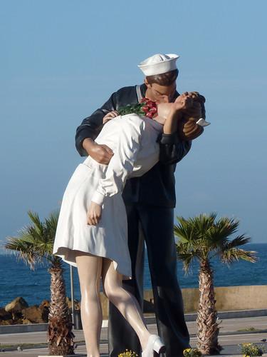 beso en Civitavechia ( Italia )