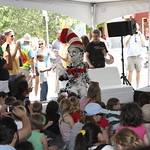 KLRU 50th Birthday Party 2012 141 KUT's Bob Branson reads with The Cat in the Hat