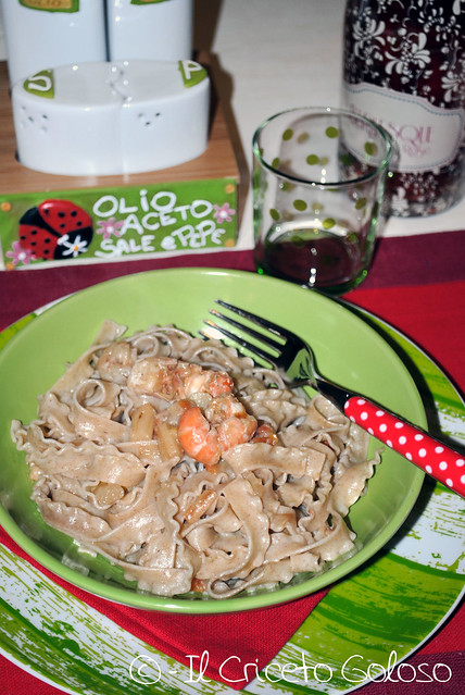 Ricciolina con gamberi e asparagi (1)